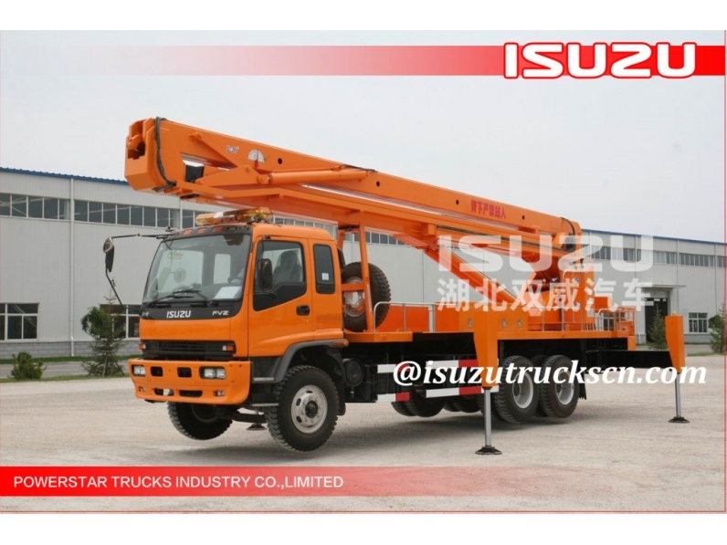 heavy construction machiney ISUZU lifting equipment 22m aerial working platform service truck for sale