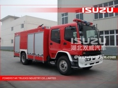 Quality FVR FTR ISUZU DRY POWDER AND FOAM FIRE TRUCK for sale