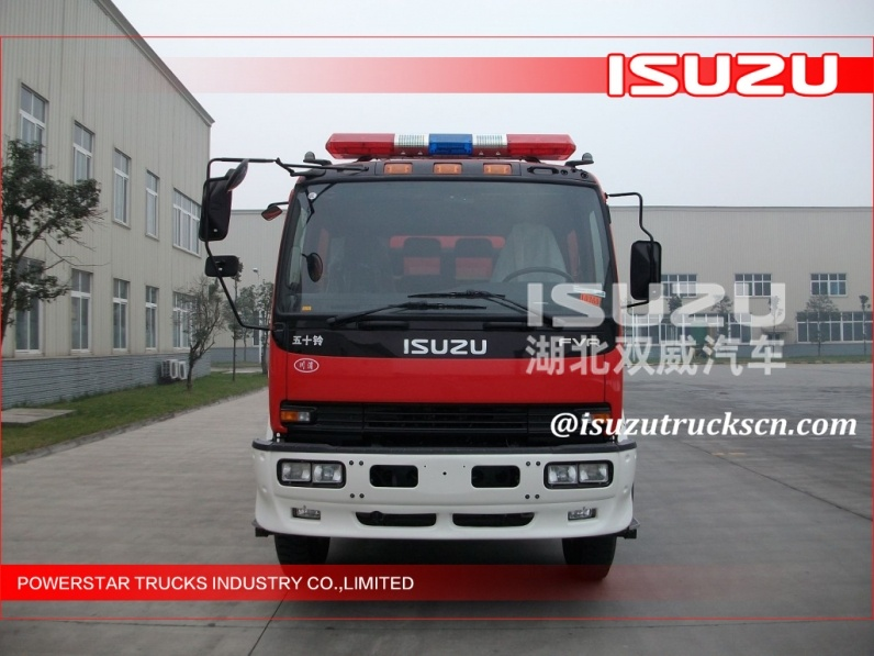 Isuzu brand CB20.10/20.40 fire pump 5Ton fire fighting truck