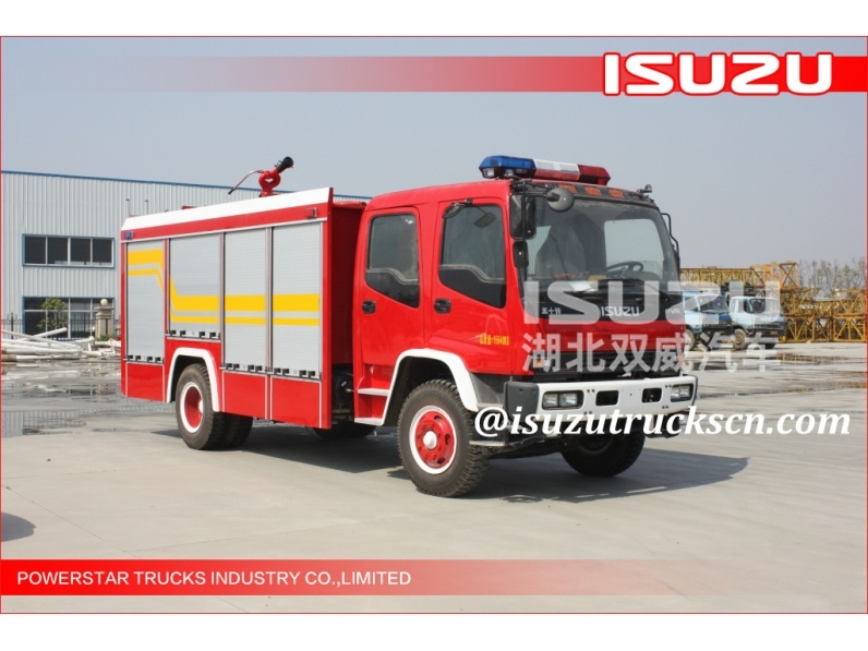 Isuzu Brand MEDIUM-SIZED EMERGENCY RESCUE FIRE VEHICLE for sael