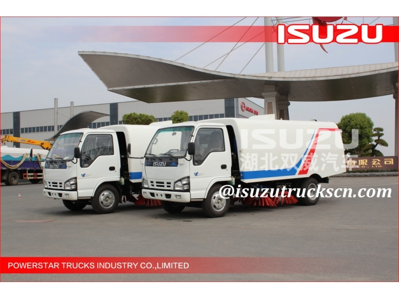 Japanese 5cbm Isuzu Street Sweeping Garbage Truck for sale