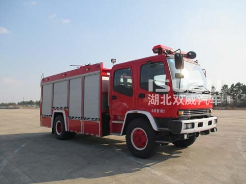 Japanese 6HK1-TCSG40 206KW ISUZU FIRE TRUCKS WITH 6000Liter capacity