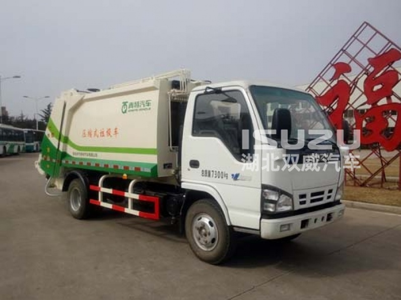ISUZU 600P 4x2 Compactor Garbage Truck for sale