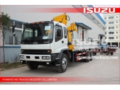 ISUZU Chassis Telescoping Boom Truck Crane For Telecommunications Facilities