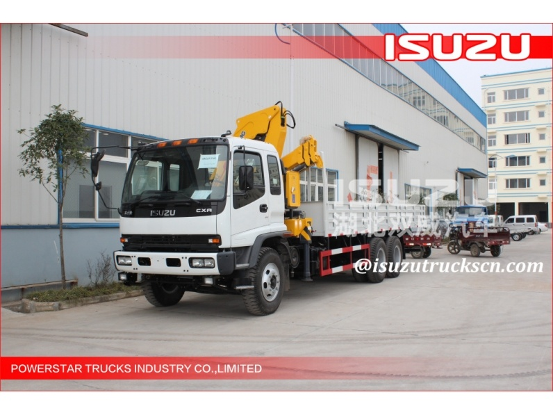 Durable Hydraulic Lifting Telescopic Boom Truck Crane ISUZU truck Mounted With 2270 kg Crane