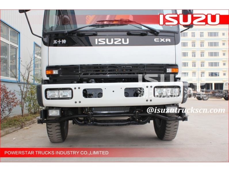 Isuzu Truck crane straight boom factory make 10m 12m 4X2 6 wheels diesel type Isuzu truck mounted telescopic crane
