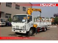 Hot sale ISUZU 4*2 5T dump truck with crane/truck mounted crane