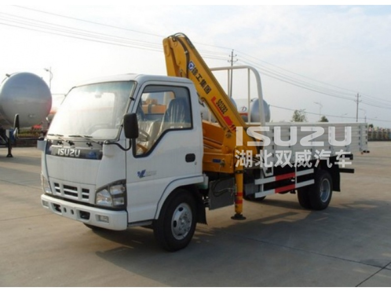 Isuzu truck mounted crane 3.2 tons knuckle booms
