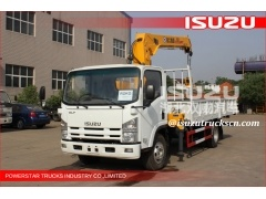 Isuzu 5Tons truck mounted crane/mini crane price/mini truck mounted crane