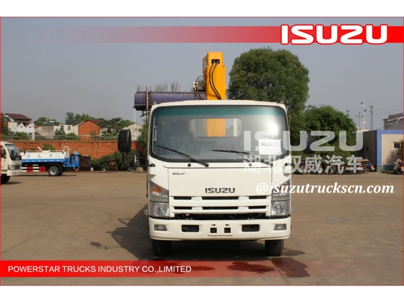 Isuzu 6.3tons hydraulic telescopic boom truck mounted crane