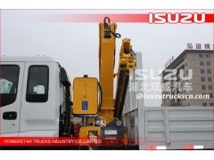 Isuzu Truck with crane truck mounted crane New Design Truck Crane for sale