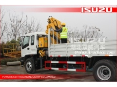 Isuzu 4X2 Truck Mounted Crane 5~8 T for Sale