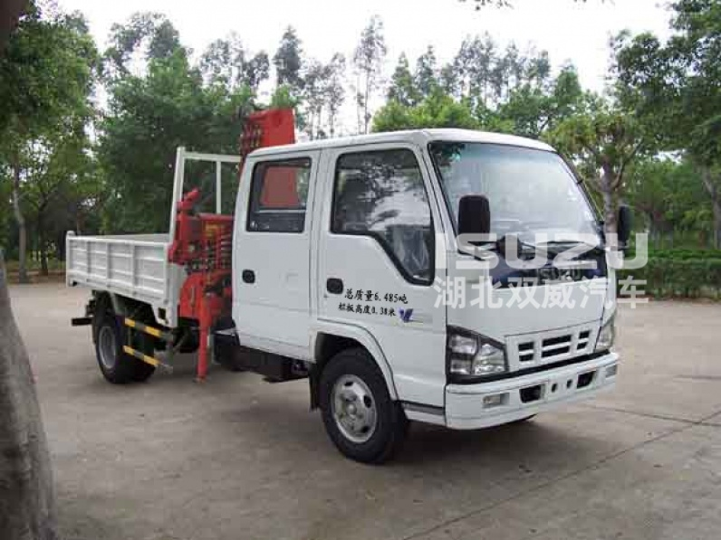 Truck with Crane with Folding Arm Isuzu 4x2