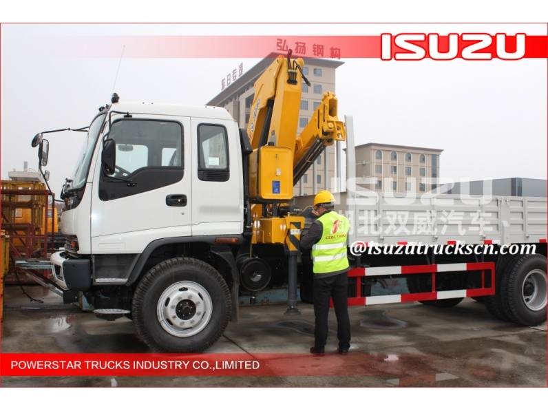 Knuckle Boom Truck Mounted Crane 8 Tons Truck-Mounted Crane isuzu
