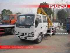 Top Quality T-king Truck with Crane/4X2 Truck with Crane mini used right hand drive truck crane