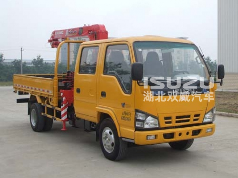 Durable 3.2 Ton Lifting Telescoping Boom Truck Mounted Crane