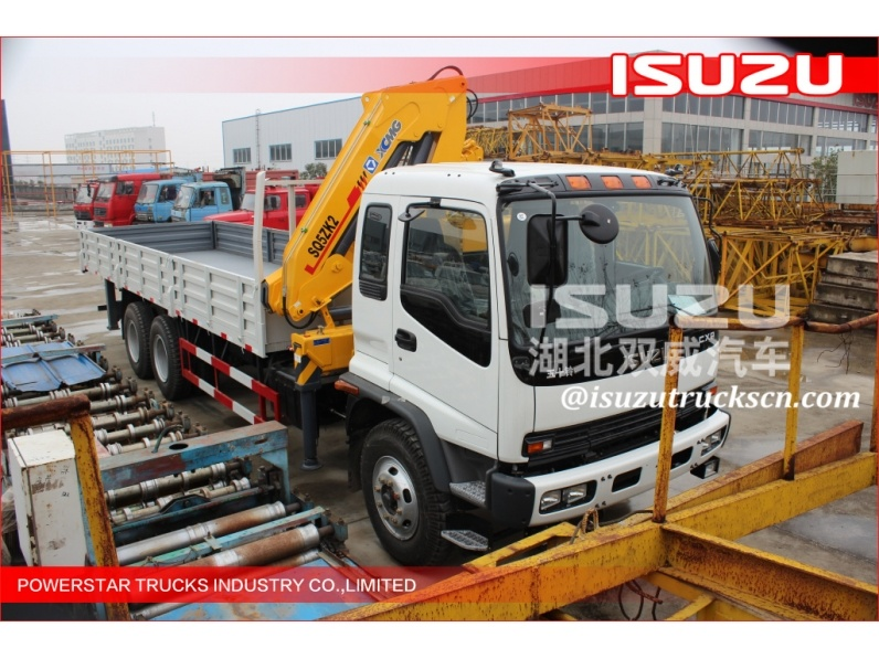 construction made in Japan isuzu truck mobile hydraulic lorry truck crane