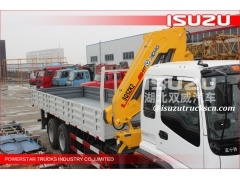 Heavy Truck Crane Lorry Crane ISUZU TRUCK KNUCKLE BOOM LORRY MOUNTED CRANE SALE