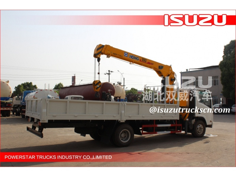 The most popular competitive price Brand XCMG lorry truck mounted crane