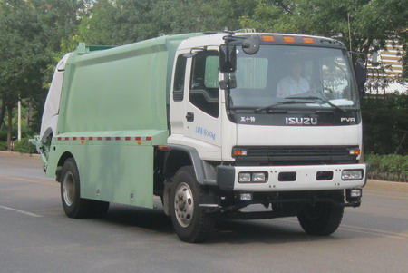 new style 2015 isuzu 12cubic meter 4*2 compactor garbage truck for