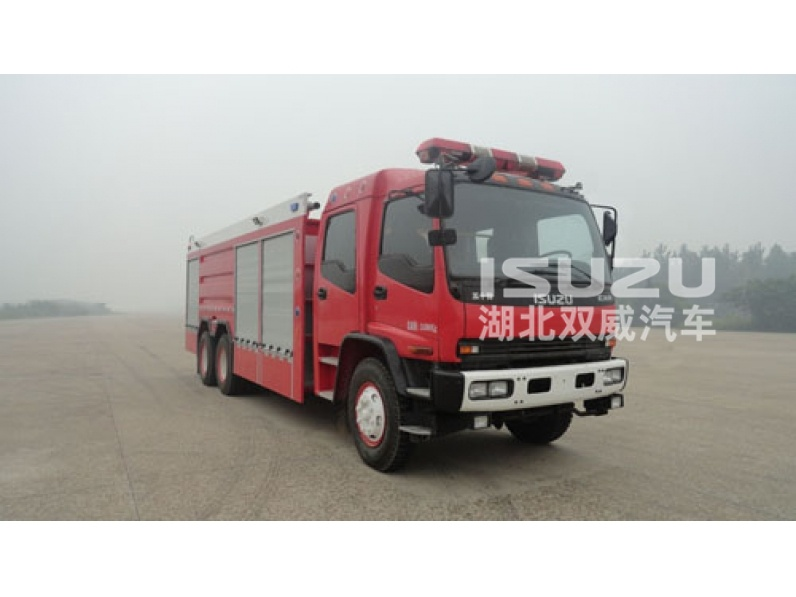 water tank fire fighting truck Isuzu