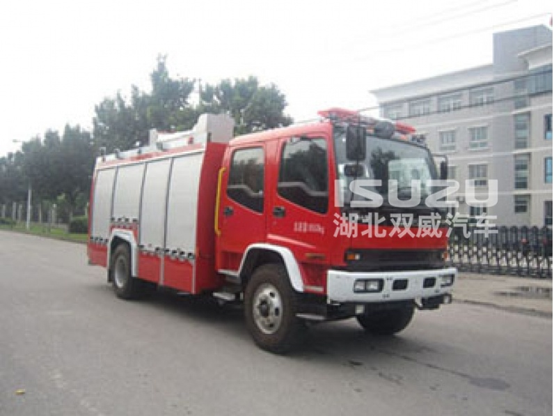 Japanese isuzu 4x2 5.5 cubic meters fire fighting truck size of fire truck