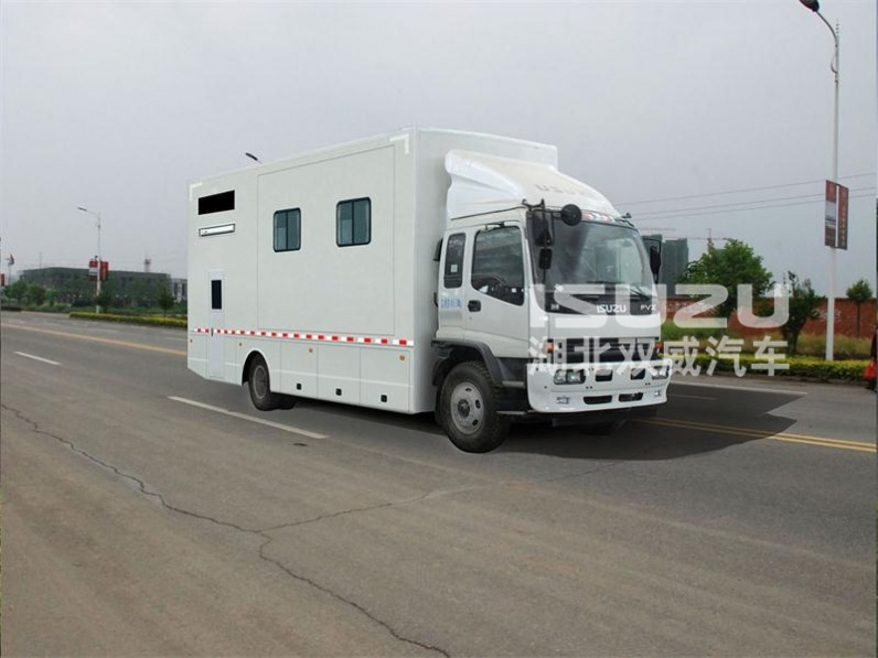 Isuzu truck With A/C Power Steering 4x2 5-15tons mini box van truck