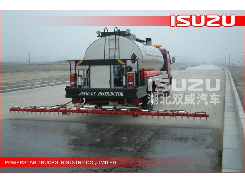 Japanese Isuzu 3000L~5000L Customer Ordinary asphalt distributor Bitumen emulsion sprayer