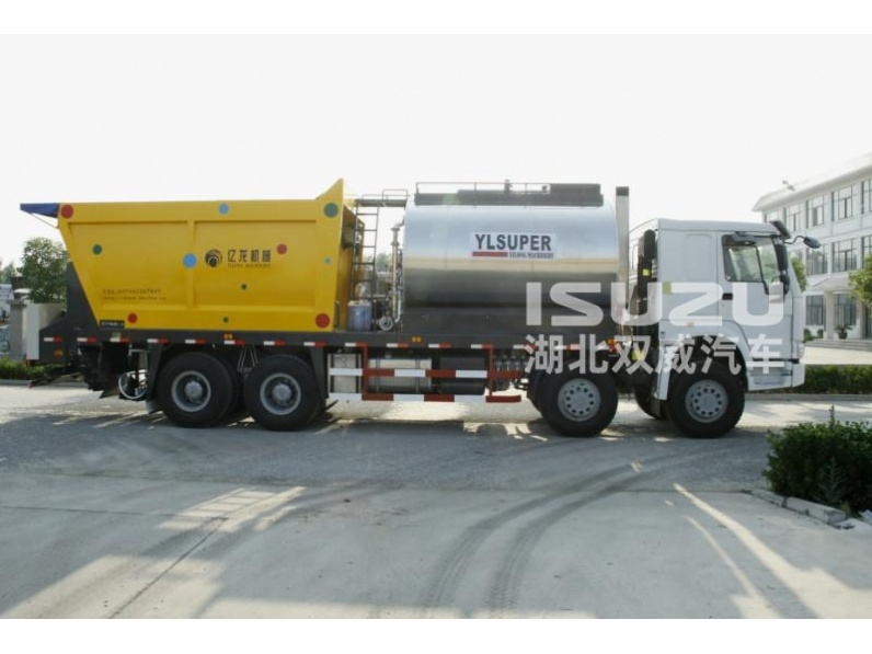ISUZU trucks synchronous chip sealer truck for road construction