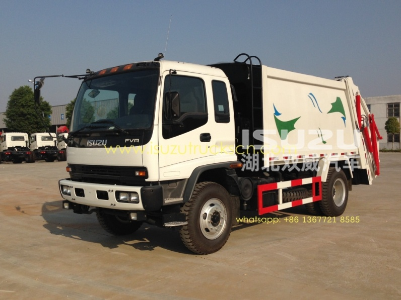Japanese brand 12 cbm FVR waste compactor vehicle ISUZU