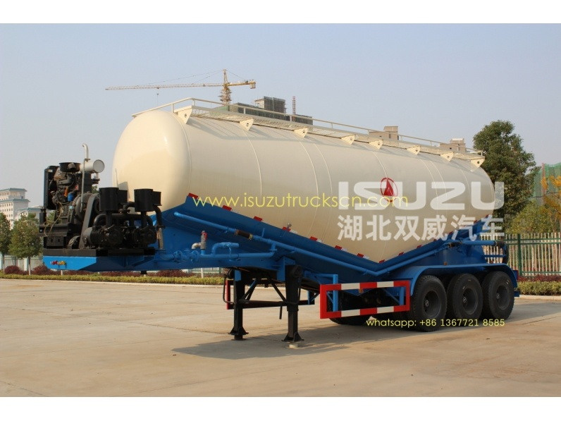 35cbm 3 Axle Dry Bulk Cement Truck Powder Transport Tanker Semi Trailer for sale