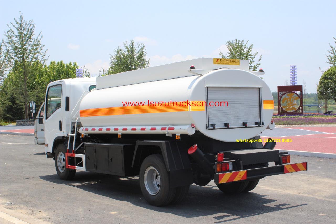 high efficiency 8 000l diesel fuel tank truck npr isuzu oil tank truck parts powerstar trucks. Black Bedroom Furniture Sets. Home Design Ideas
