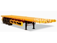 Semi-Trailer Type 3 Axle 40ft Flatbed Semi Trailer