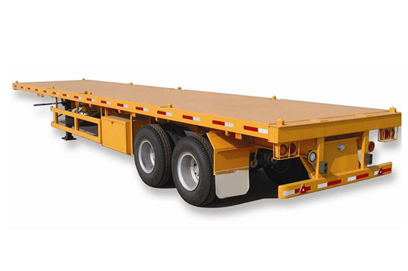 Hot Selling 2axle 40ft Flatbed Semitrailer In China