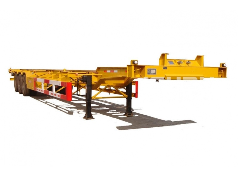 3axles/2axles flatbed/skeleton semi trailers for shipping one 40feet or two 20feet container