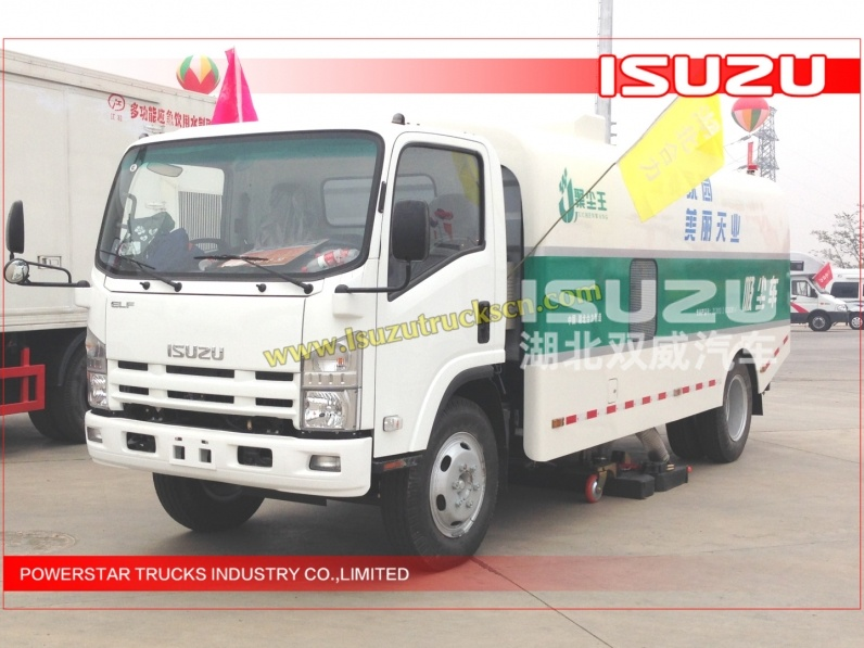 ELF NPR ISUZU Dust Suction Truck 10M3 Sweeper Truck 10CBM Road sweeper Truck For Sale