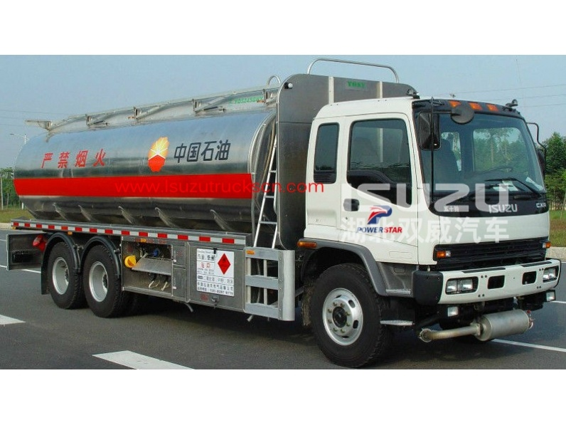 25m3 Isuzu truck Aluminum alloy fuel tanker truck for sale