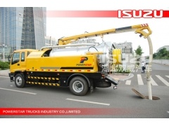 10wheesl Isuzu brand Combined Sewer Jetting Vacuum Trucks