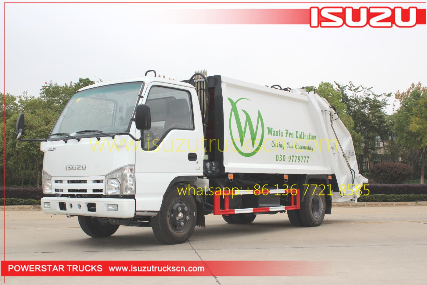 Compression Garbage Truck Isuzu 4 Cbm At Price Concessions
