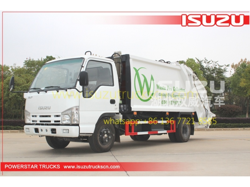 4000L hydraulic compressive garbage truck with 4CBM capacity