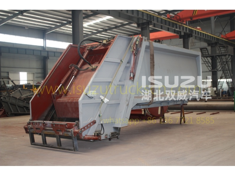 Refuse compactor truck up structure
