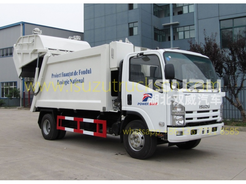 2016 High quality 8 cbm Waste compactor truck ISUZU for sale