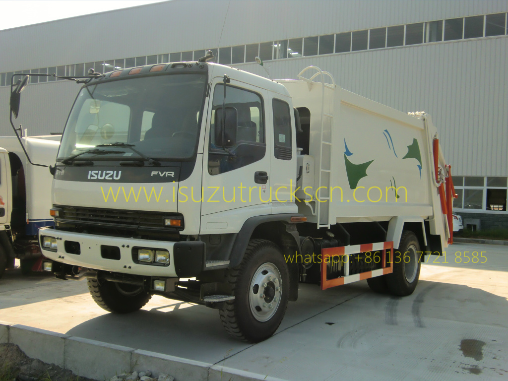 Libya Custom Made 12cubic Fvr Japanese Isuzu Rubbish Compactor Fvz Wiring Diagram Customer 12cbm 10cbm Waste Truck