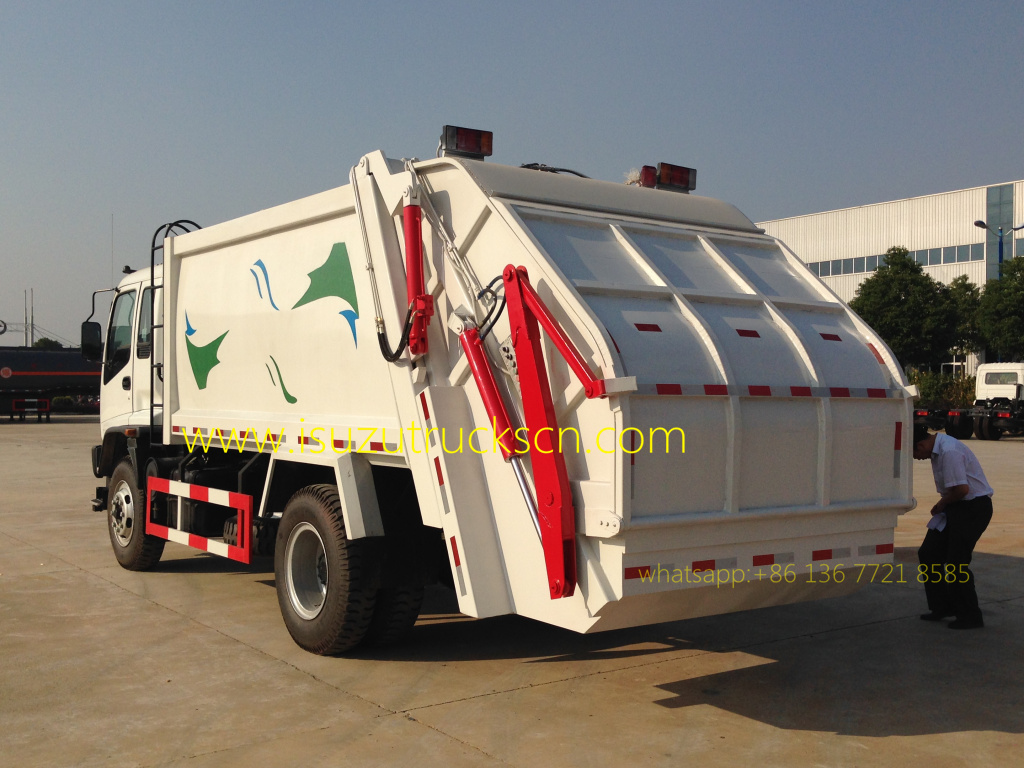 Libya Custom Made 12cubic Fvr Japanese Isuzu Rubbish Compactor Fvz Wiring Diagram Overview Of Waste Truck 12 Cbm