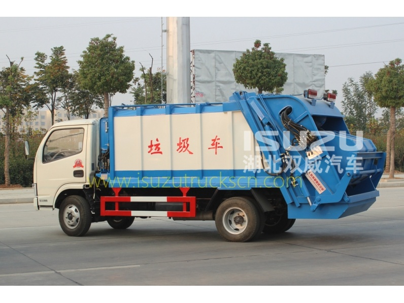 waste compactor truck Dongfeng garbage compactor truck