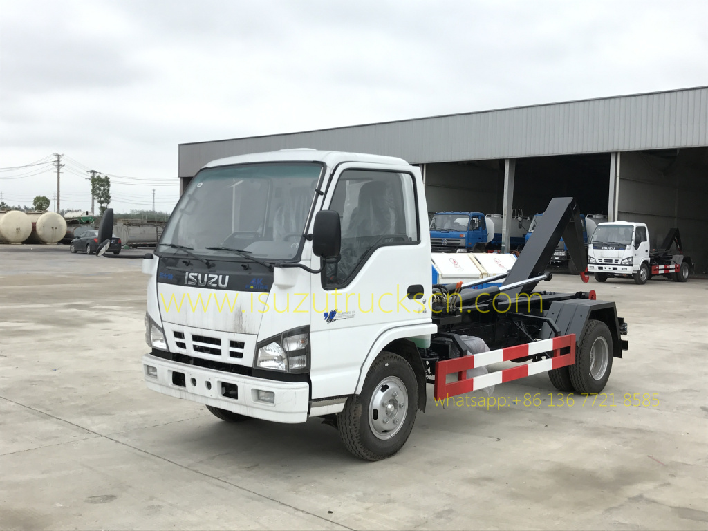 Best 3 4 Ton Truck >> Hot Selling 5cbm/m3 Isuzu Garbage Truck / Hook-Lift Truck / Waste Container Vehicle In China ...