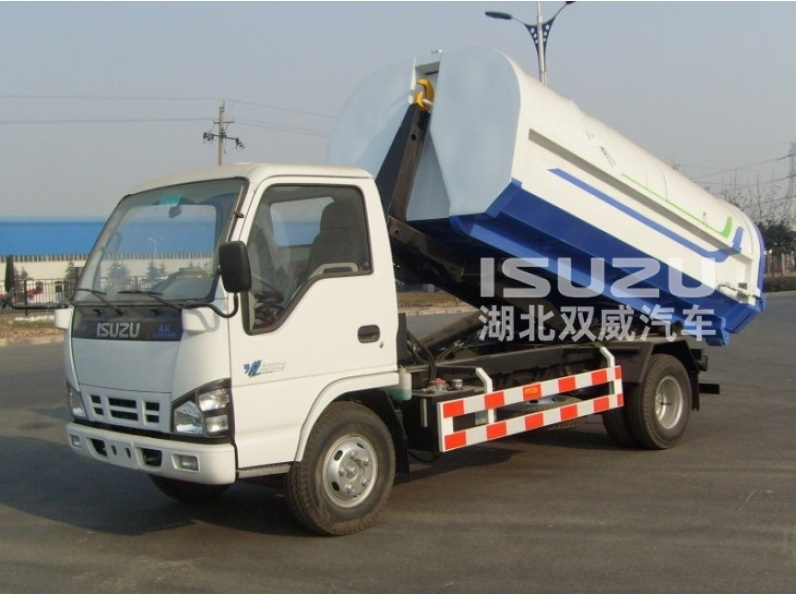 japanese 3cbm Isuzu Garbage Truck / Hook-Lift Truck / Garbage Vehicle 3cbm