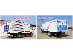 dustbin super structure for street sweeping kit