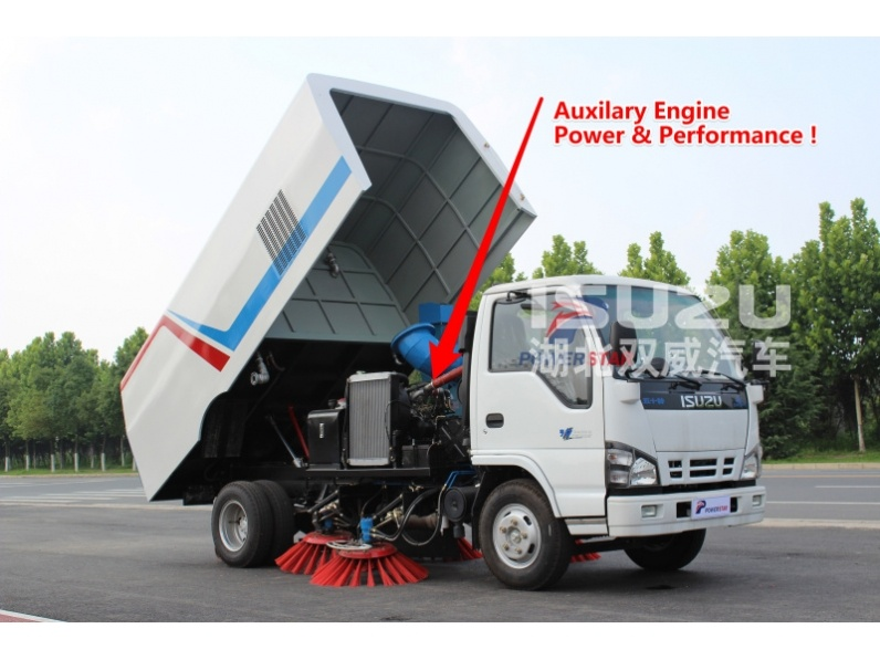street sweeper auxiliary engine