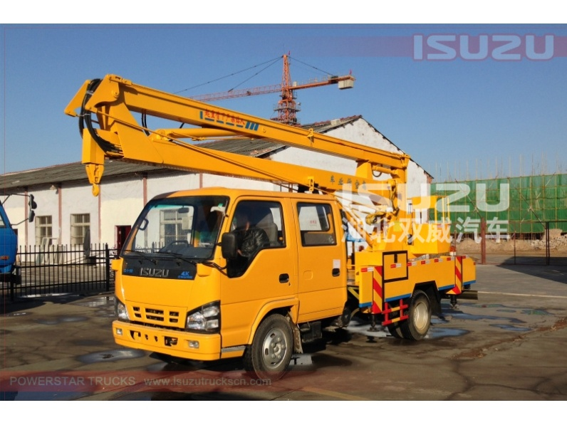 Boom Lift Truck : Hot selling meters myanmar isuzu aerial working platform